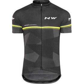 Northwave Origin SS Jersey Herren black/yellow fluo